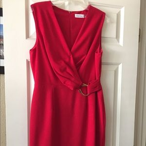 Ck red dress with Gold Buckle